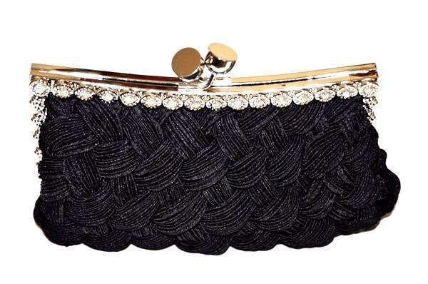 Night Clutch with Rhinestones and Removable Chain