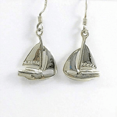 Sail Boat Sterling Silver Earrings