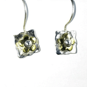 Square Sterling Silver French Hook Earrings
