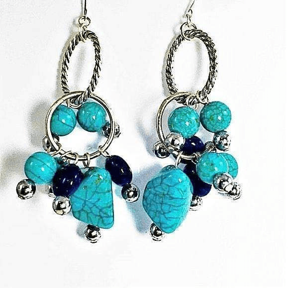 Turquoise Lapis Earrings