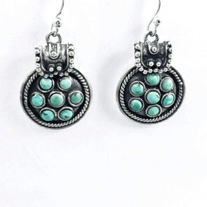 Vintage Sterling Silver Turquoise Southwest Earrings
