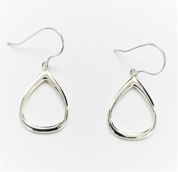Tear Drop Sterling Silver Earrings