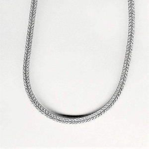 Sterling Silver Link Style Rope Chain Necklace