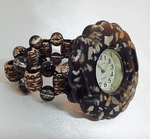 Shop for Handcrafted Artisan Cabochon Mother of Pearl Watch