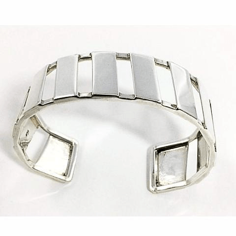 Cuff Bracelet Band Sterling Silver