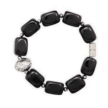 Magnetic Black Beads Bracelet