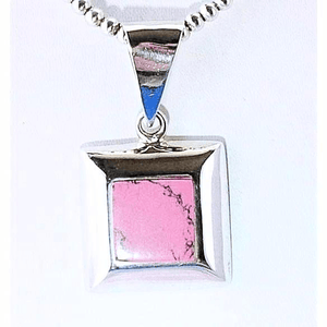 Rhodonite- Rasberry Pendant Necklace with Chain