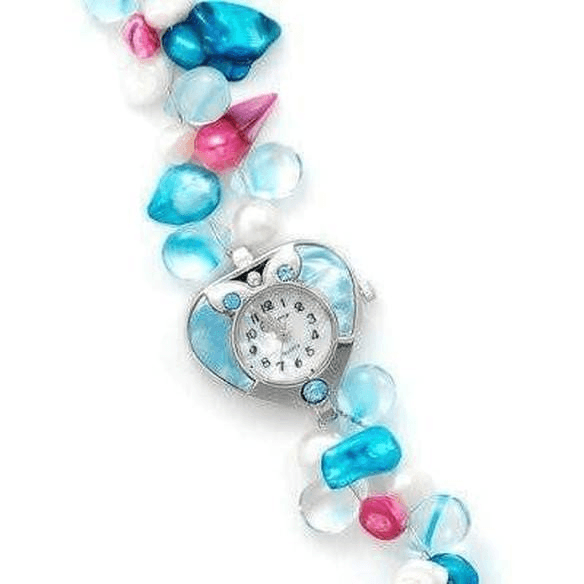 Quartz Heart Multicolor Stone Watch