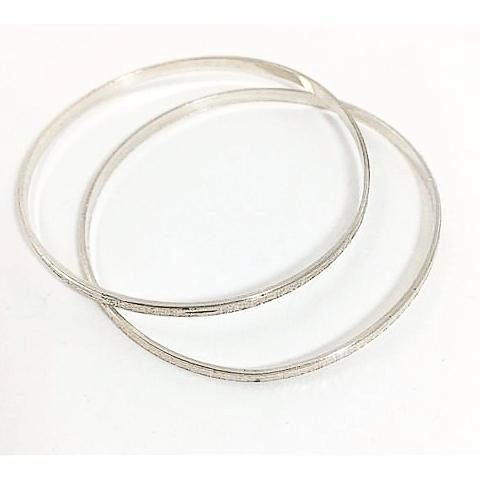 Sterling Silver Bangle Bracelets Set
