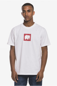 Boxed Elephant T-Shirt White - Tシャツ - Trendsplant サーフブランド