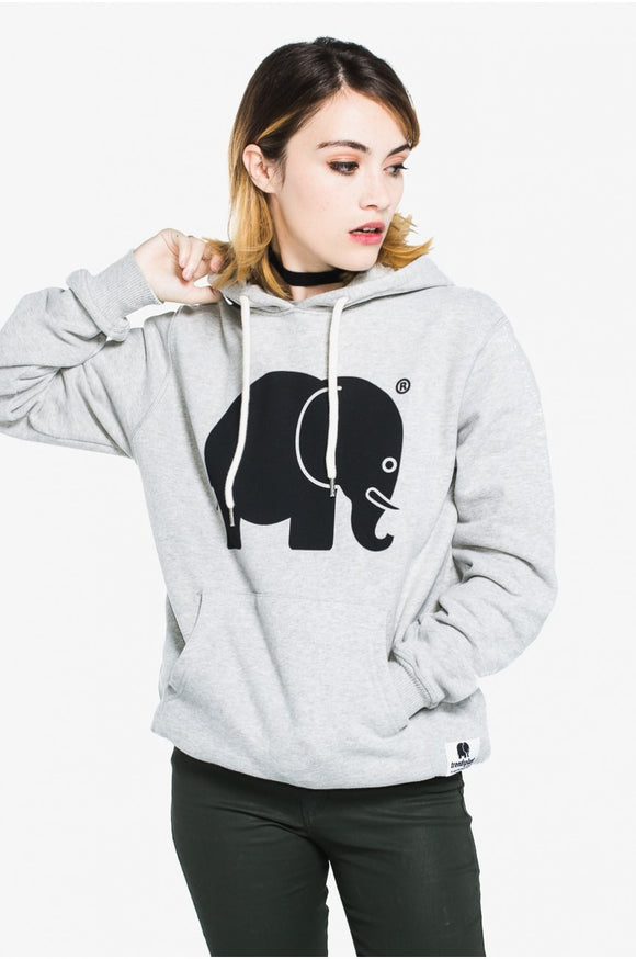 Classic Hoodie Black on Grey - パーカー - Trendsplant サーフブランド