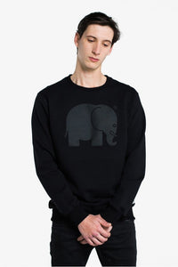 Classic Crewneck Black on Black - セーター - Trendsplant サーフブランド