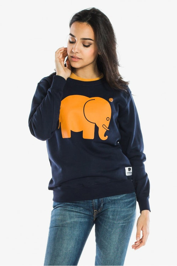 Classic Crewneck Yolk on Navy - セーター - Trendsplant サーフブランド