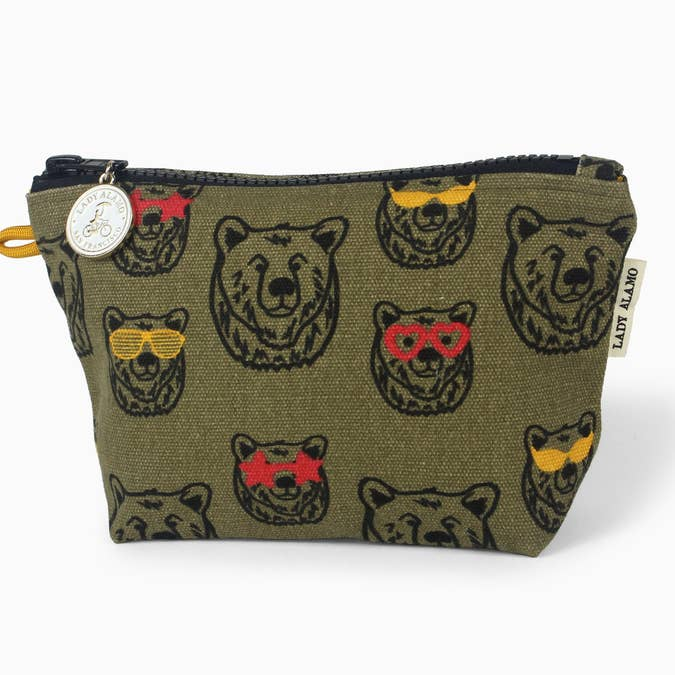 Lady Alamo Little Zip Pouch - Bear Love