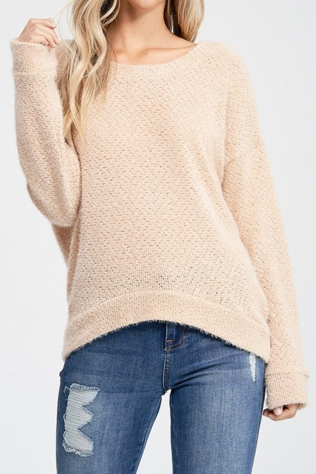 Taupe Cozy Block Sweater (S,M,L,XL)