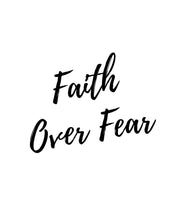 Faith Over Fear Word Art - Printable Download PDF