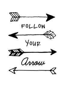 picture regarding Printable Arrow Stencil known as Printable Obtain Card/Wall Artwork - Adhere to Your Arrow