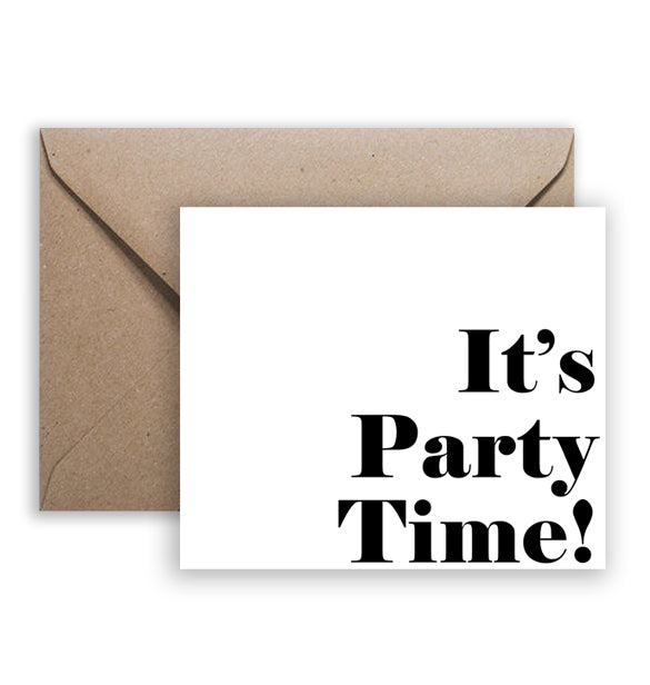 Printable Card Download - It's Party Time (5 x 4.25)