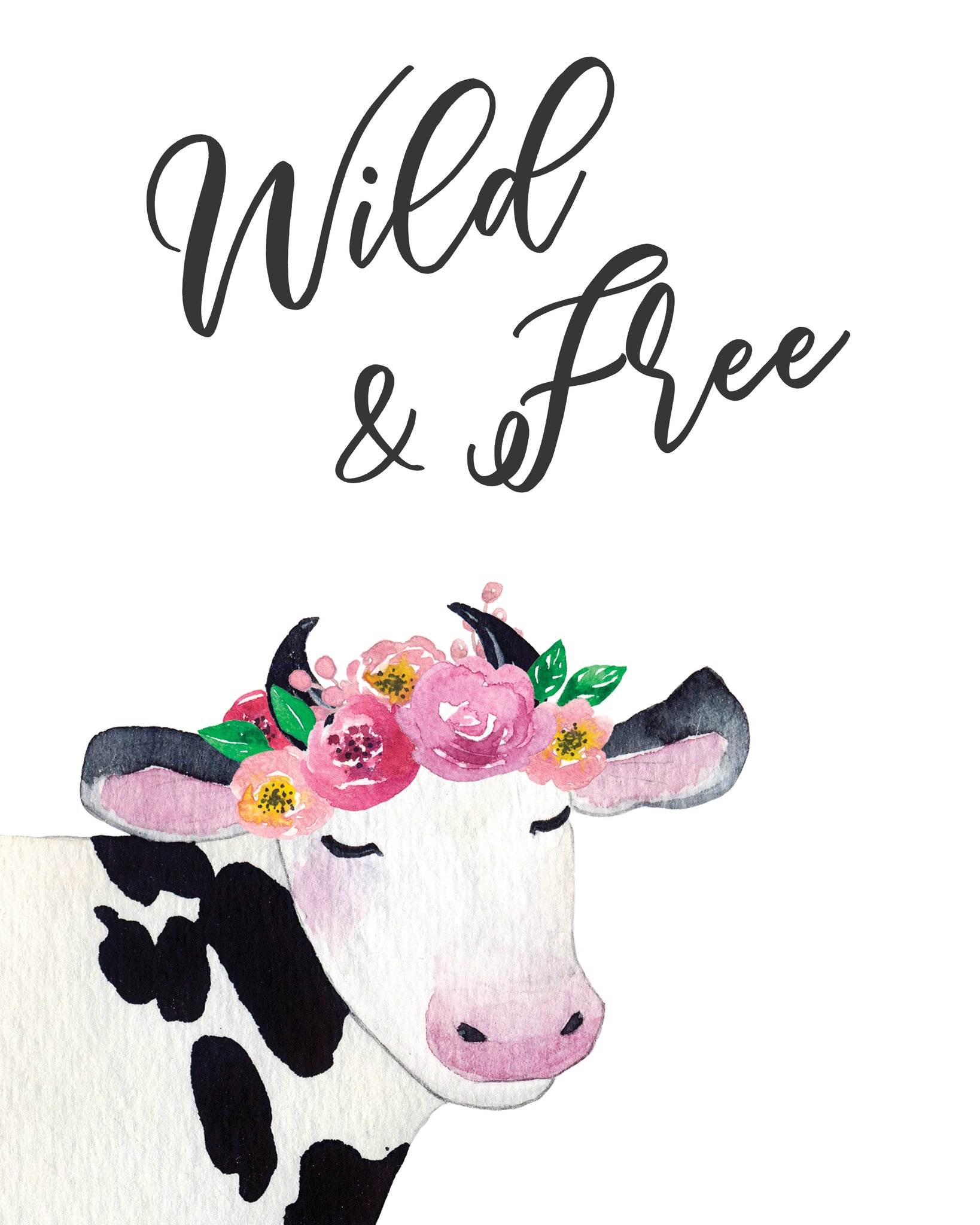 Bohemian Farm Animal Nursery 8x10 Wall Art, 3 Prints - Printable