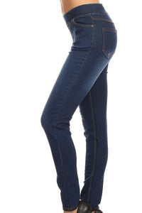 Our 'Best Selling' Denim Blue Pull On Skinny Jegging