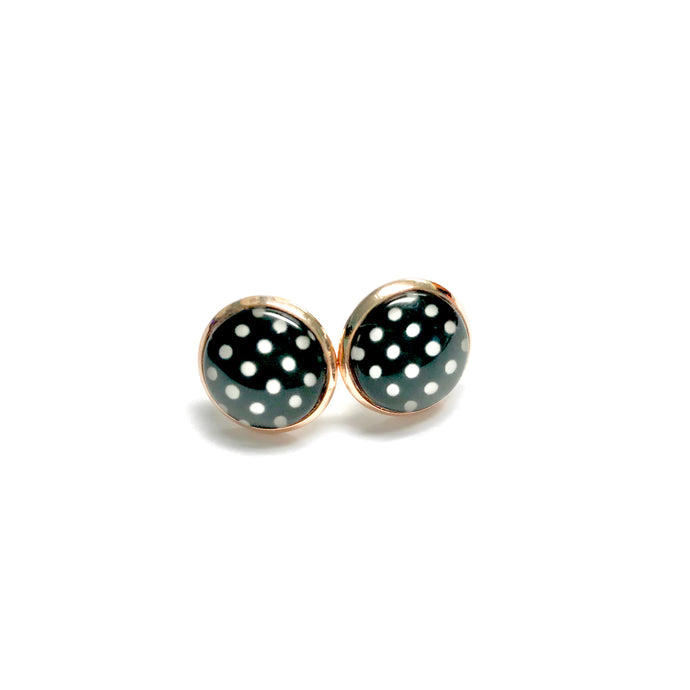 Polka Dot Stud Earrings - All Up In The Hair