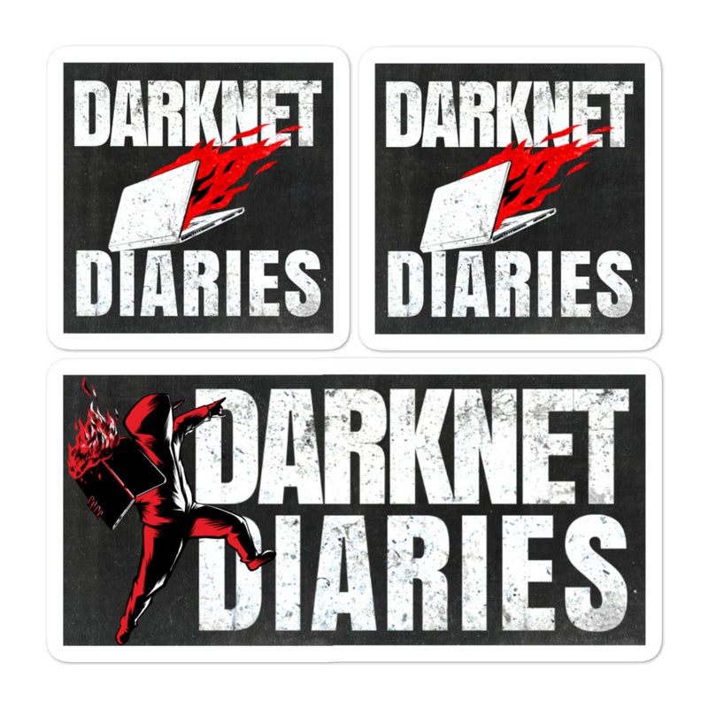 Darknet Diaries 3 Pack Stickers