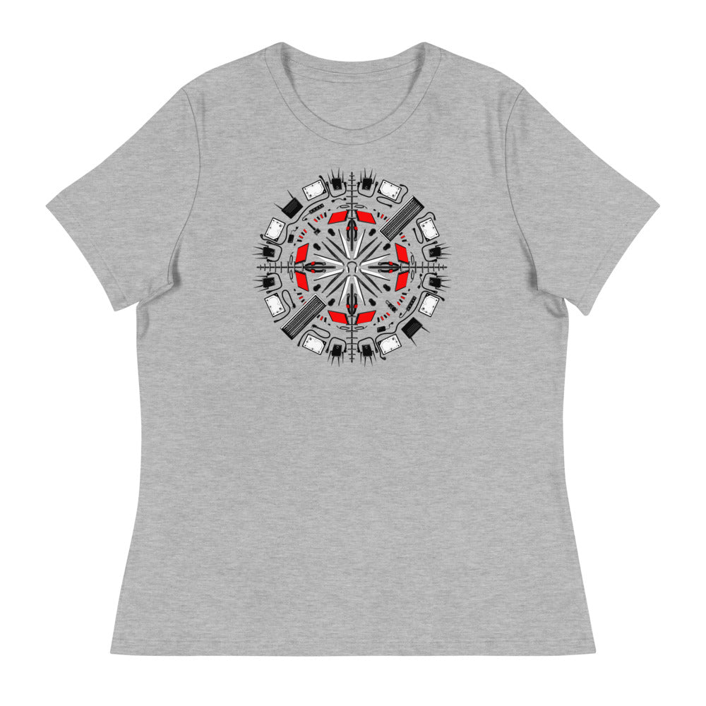 Tech Mandala Women's Relaxed T-Shirt
