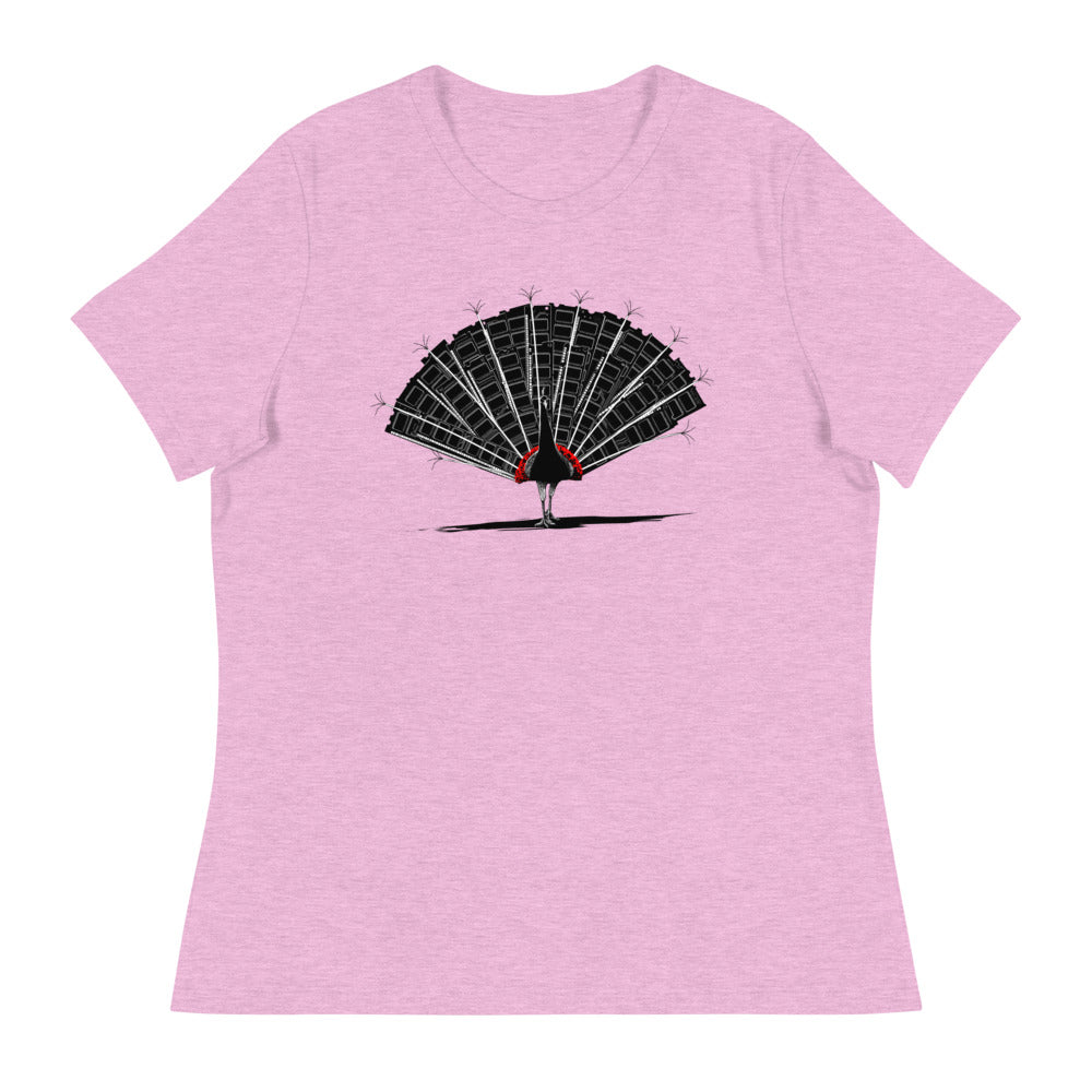 Memory Peacock Women's Relaxed T-Shirt