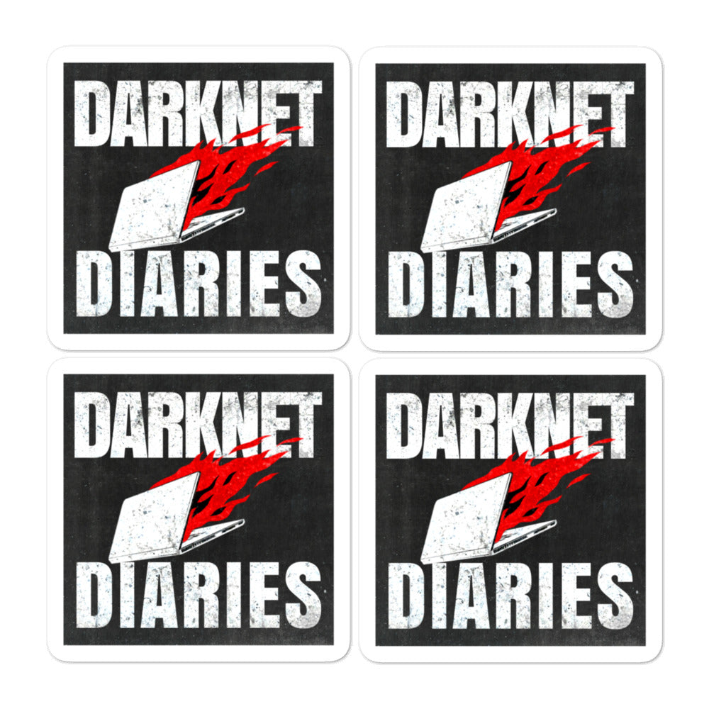 4 x Darknet Diaries Stickers