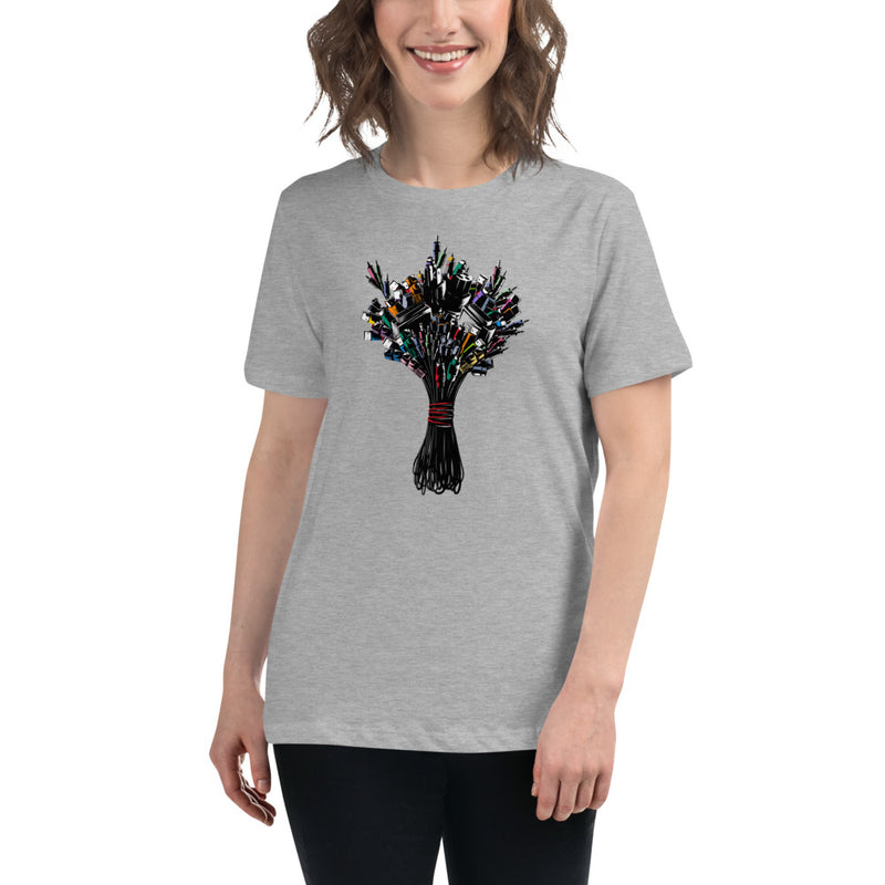 Cyber Bouquet Women's Relaxed T-Shirt