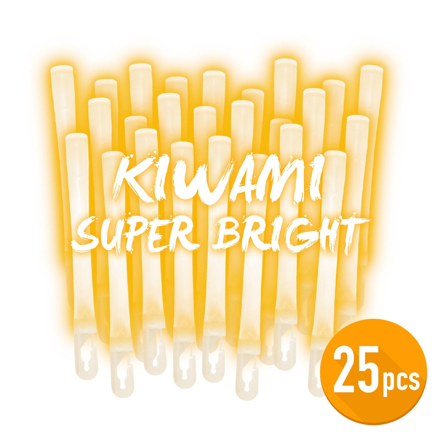Lumica Light Daisenko Arc Ultra Bright Kiwami Orange Glowsticks 25 Pack