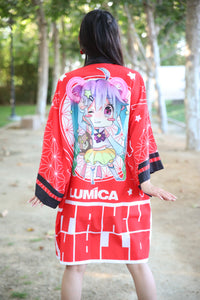 Red Lunachan Happi Coat