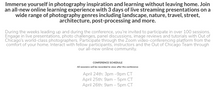 OUT OF CHICAGO LIVE! An Online Global Photography Conference April 9-11, 2021