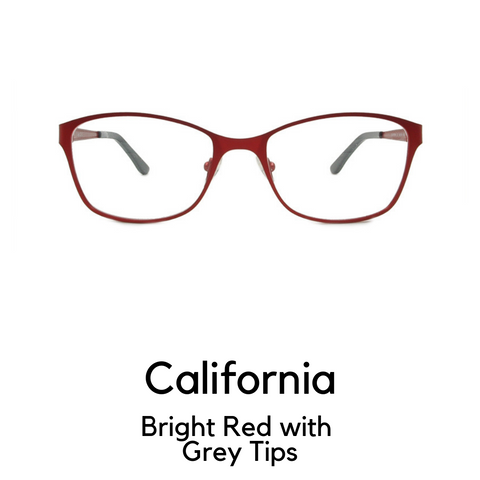 California in Bright Red with Grey Tips