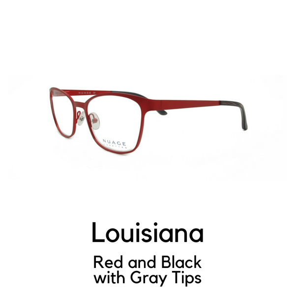Louisiana in Red and Black with Grey TIps