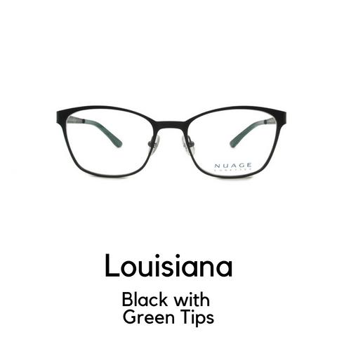 Louisiana in Black with Green Tips