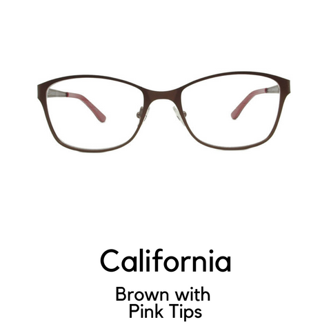 California in Brown with Dark Pink Tips