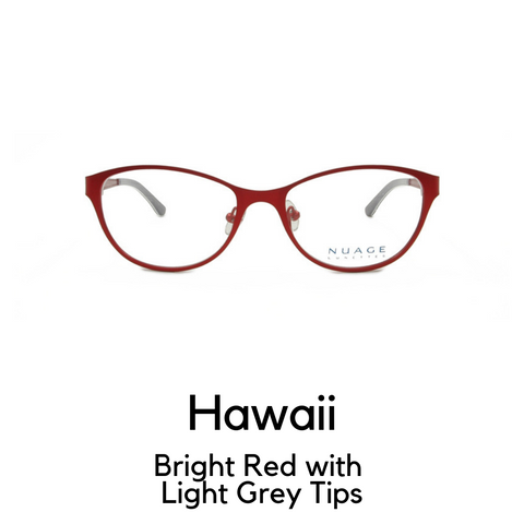 Hawaii in Bright Red with Light Grey Tips