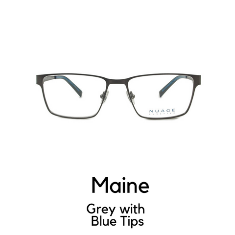 Maine in Grey with Blue Tips