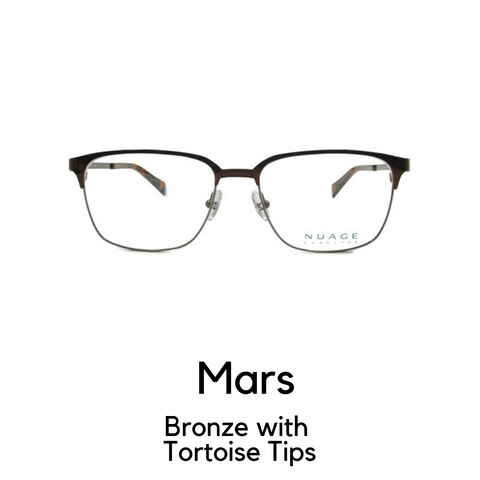 Mars in Bronze with Tortoise Tips