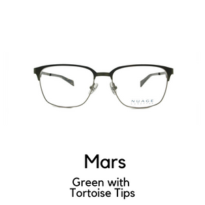 Mars in Green with Tortoise Tips