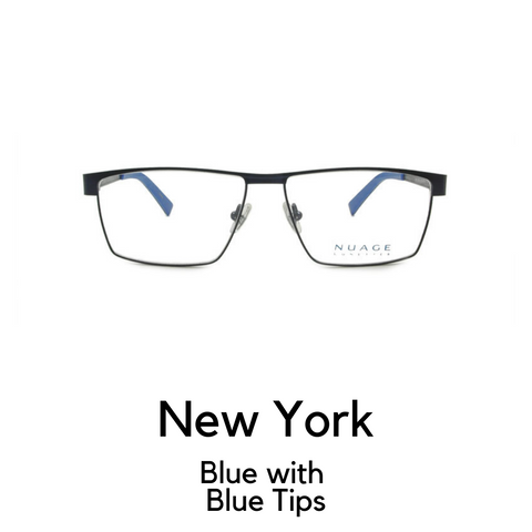 New York in Metallic Blue with Blue Tips
