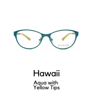 Hawaii in Aqua with Yellow Tips