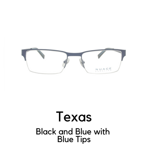 Texas in Blue and Black with Blue Tips