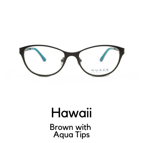 Hawaii in Brown with Aqua Tips