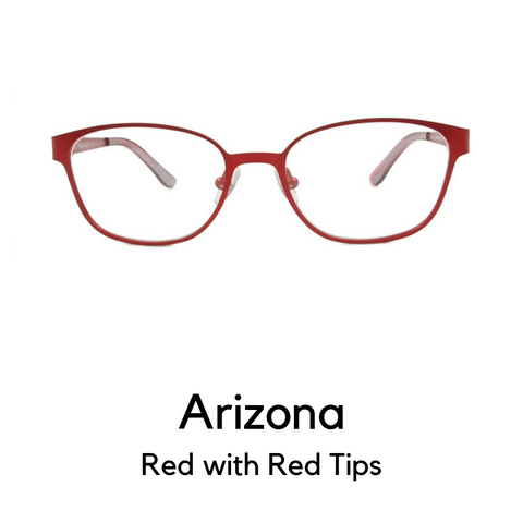 Arizona in Red with Dark Red Tips