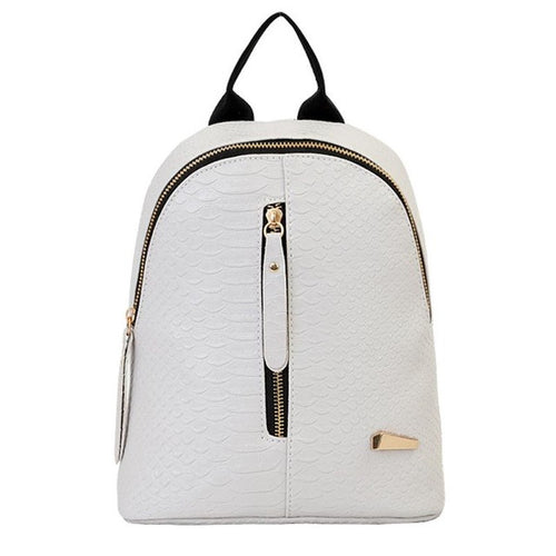 Gray Zipper Backpack