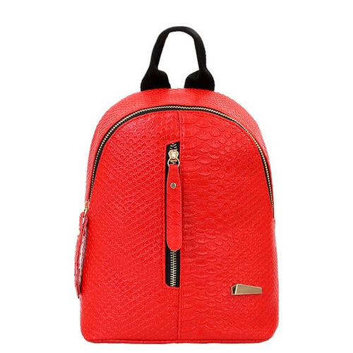 Red Zipper Backpack