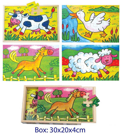 Animal 4 in 1 Jigsaw Puzzles