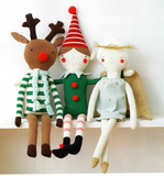 Knitted Christmas Dolls